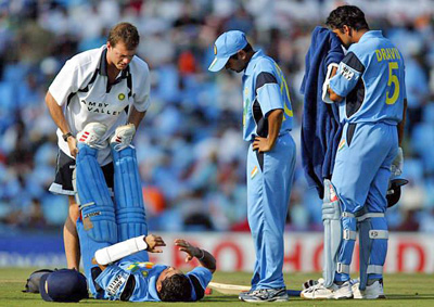 Indian team tends