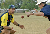 juggling practice to skipper Ricky Ponting