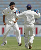 wicket with Irfan Pathan